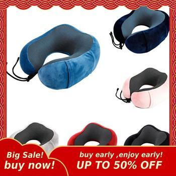 Мягкая подушка для шеи MIHE в форме мультяшного персонажа, дорожная подушка с памятью для шеи, подушка для отдыха для самолета, автомобиля, сна...