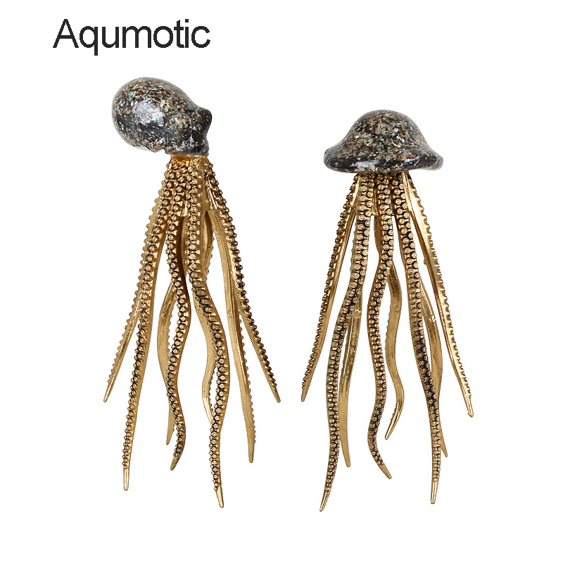 Aqumotic Squid Decorations Octopus 1pc Large Coffee Table Decor Dining Home Up Shell Mediterranean Modern Indoor Layout