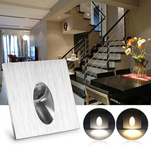 Led Stair Wall Light Square Round 1/3W Wall Mounted Spotlight Step Aisle Light Aluminum Indoor Lighting AC85-265V Led Wall Light