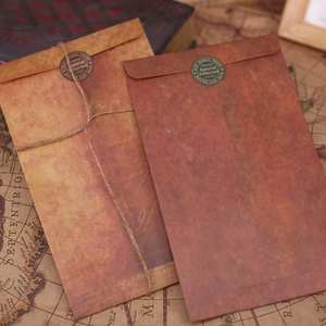 Vintage Envelope Paper Kraft Small Decorative Diy 1pcs A2H4 School-Supplies