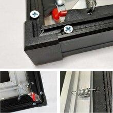 Marco de aleación de aluminio de 1cm, borde estrecho superfino para pantalla de proyector ALR de 80, 90, 100, 120 y 150 pulgadas