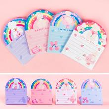 2020 Newest 50 Sheets Cute Rainbow Korean Desk Memo Pads Note Organizer Notepad Daily To Do List Planner School Stationery zakka miditerranean sea wooden desk calendar desktop to do list daily planner book office desk supplies standing school