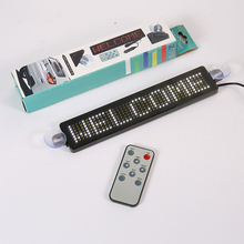 DIY programmable scroll go words words LED signs advertising message boards in English cafe bar car remote control panel