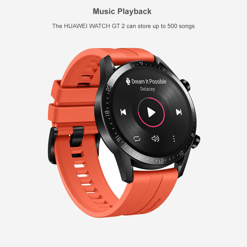 Reloj inteligente Huawei GT 2 rastreador de oxígeno en sangre spo2 Bluetooth Smartwatch 5,1 rastreador de frecuencia cardíaca para Android iOS - 5