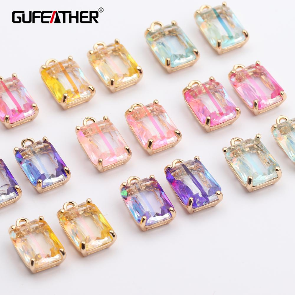 GUFEATHER M431,jewelry Accessories,jewelry Making,glass Pendant,jump Ring,jewelry Findings,hand Made,diy Earrings,10pcs/lot