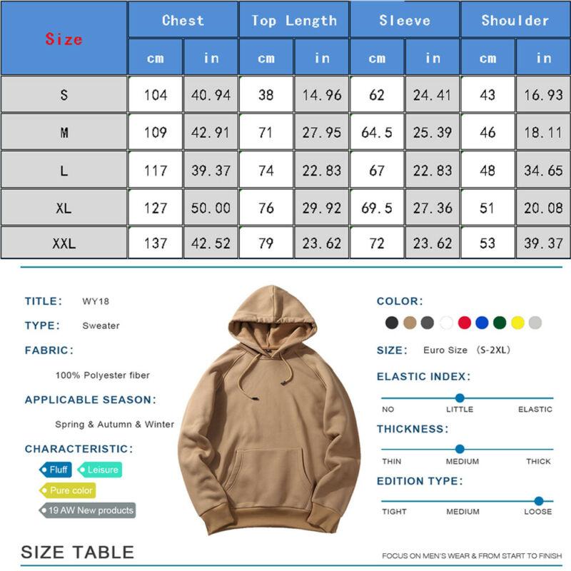 Womens Hooded Sweatshirt Winter Casual Hoodies Tops Jumper Pullover 16 18 20 22