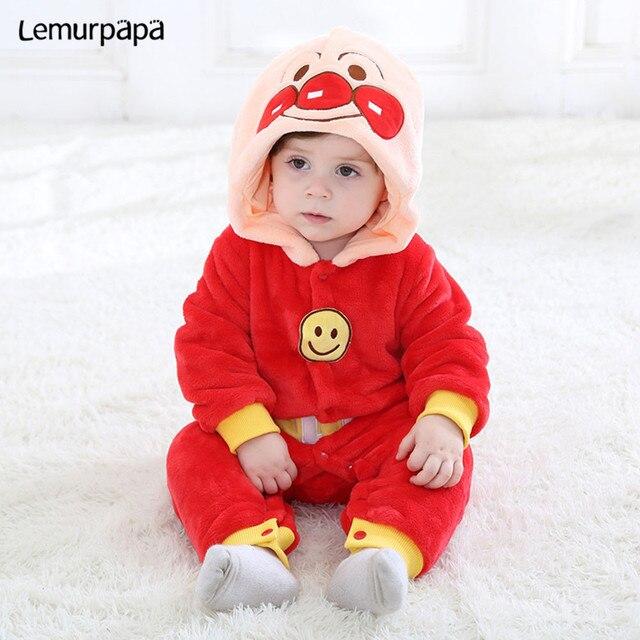 Inverno kawaii roupas da menina do bebê anpanmanonesie bebê recém nascido macacão de algodão do miúdo macacão infantil festa onesies macacão bonito traje
