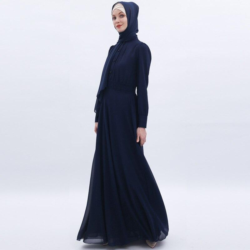 Fashion Abayas for Women Chiffon Muslim Dress Turkey Muslim Women Hijab Dress Islam Caftan Marocain Dresses Vestidos Eid Mubarak 5