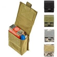 Borsa militare da esterno MOLLE tasca tattica singola portariviste guaina mimetica Mini custodia borsa da caccia multifunzionale