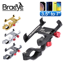 Bicycle Phone Rack Universal Aluminum Alloy MTB Bike Moblie Cell Phone Holder Stand Motorcycle Handlebar Mount Non-Slip Clip