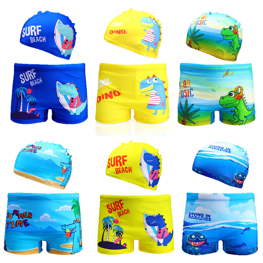 Boys Swimwear 2020 Dinasaur Swimming Trunks For Children Boys 2-8years Boys Trunk Summer Beachwear Boys Swimsuit 1042