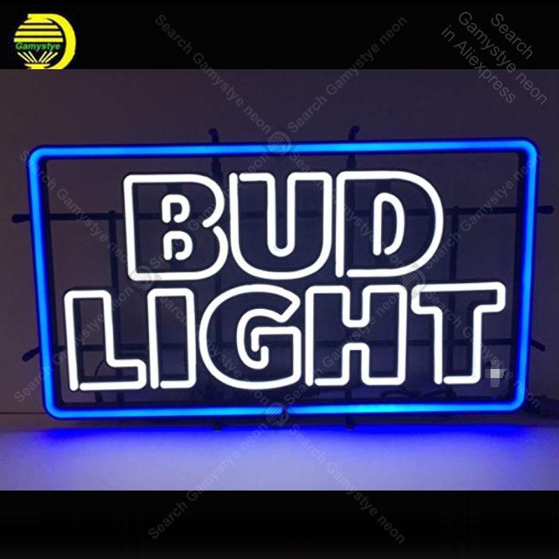 Neon Sign for Bud Light Beer Neon Bulbs Sign Iconic Beer Windower Handcraft Custom Logo Lamps