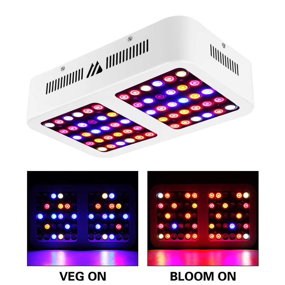 Indoor Plant Light White 600W LED Grow Light Full Spectrum,Profession Planting With Double Switch For Vegetable Fruit And Flower