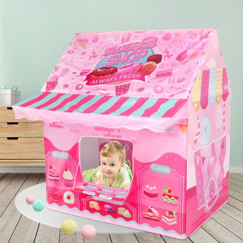 Portable Folding Game House Lightweight And Delicate Practical Children Game Castle Tent Play House For Kids Gifts 110x100x70cm