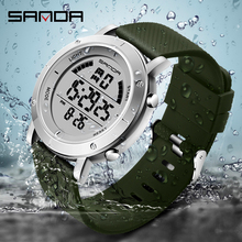 Sanda Digital Watch Men 2020 Outdoor Sport Watches For man Running Stopwatch Military LED Electronic Clock Wrist Watches Relogio