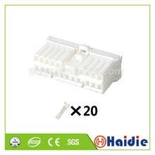 2 conjuntos 20pin elétrico conector de chicote de fios de fio de cabo de plástico automático com pinos 174952-1