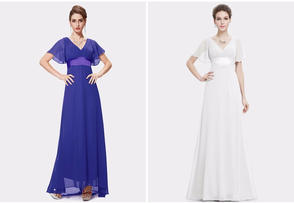 Glamorous Double V-Neck Ruffles Padded Evening Dress 3
