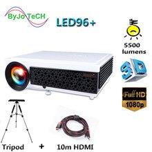 Светодиодный проектор Poner Saund 96 +, 5500 люмен, Full HD проектор 1080P с триподом 10 м HDMI, 3D проектор с ЖК-экраном, Vs светодиодный 96 bt96 m5