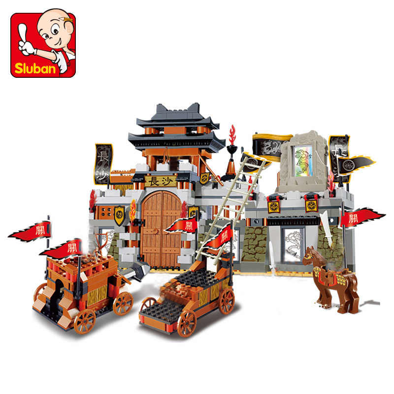 Военная Древняя китайская война битва Романтика трех царств Модель Строительный набор совместимые Legoing фигурки блоки игрушки