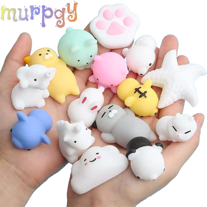Cartoon Squishy Cute Animal Antistress Soft Ball Decompression Sticky Eliminate Pets Stress Relief Funny Gift For Children Toys