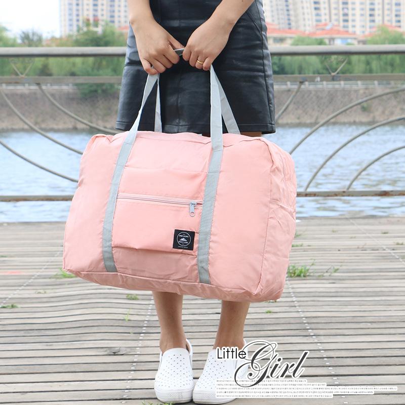 Nylon Foldable Gym Bags Portable Female Storage Outdoor Training Travel Handbag Large Capacity Women Fitness Yoga Duffle Bag