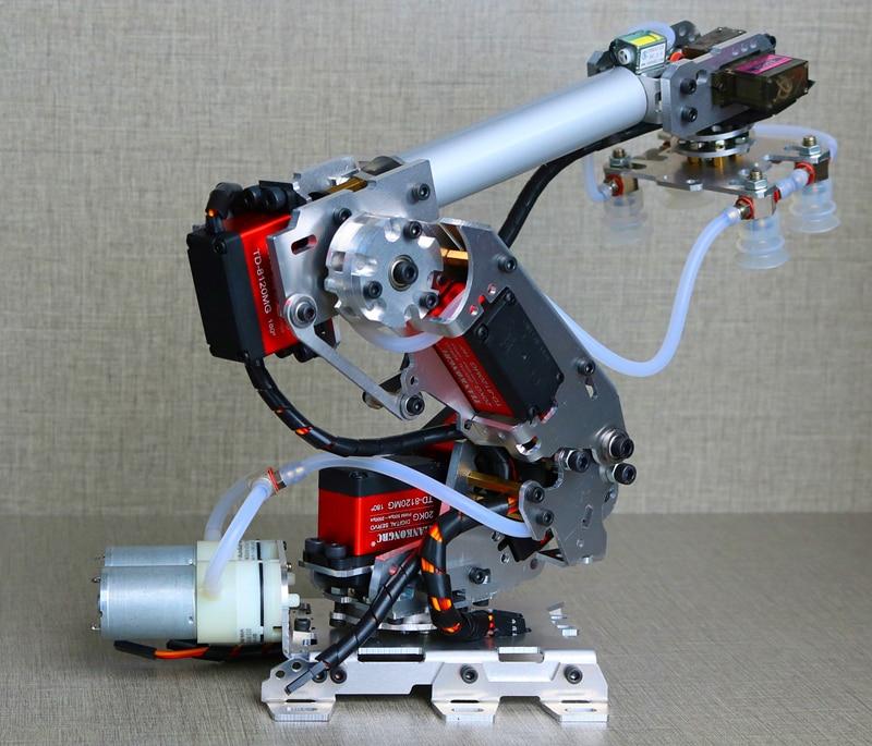 Robot-Model Air-Pump Mechanical-Arm Industrial Arduino-Suction-Cup 6DOF Aluminum-Alloy
