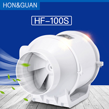Hon& Guan 4 ''встроенный канальный вентилятор, усилитель вентилятора, пластиковая водонепроницаемая вентиляционная труба, вытяжка для потолка, вытяжка для ванной комнаты, вентилятор HF-100S