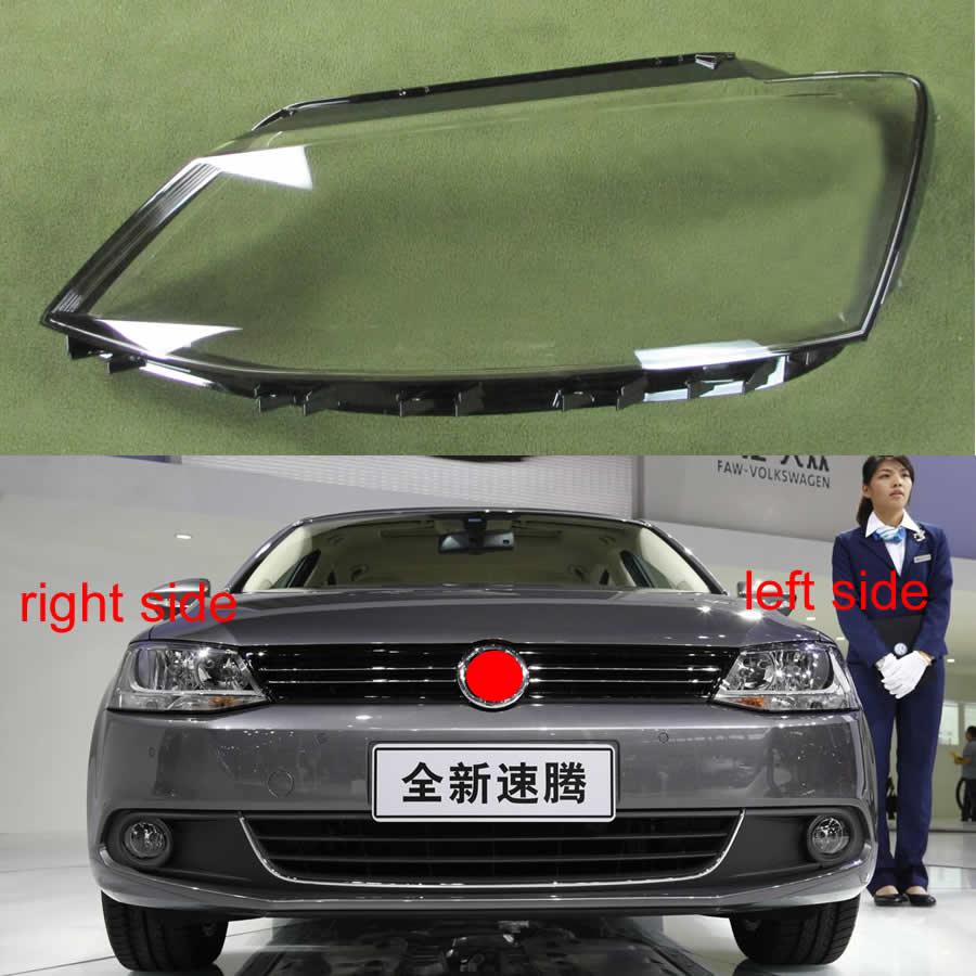 For VW Jetta (Sagitar) 2012 2013 2014 2015 2016 2017 2018 Headlamp Transparent Cover Lampshade Headlight Shell Cover Lens Glass