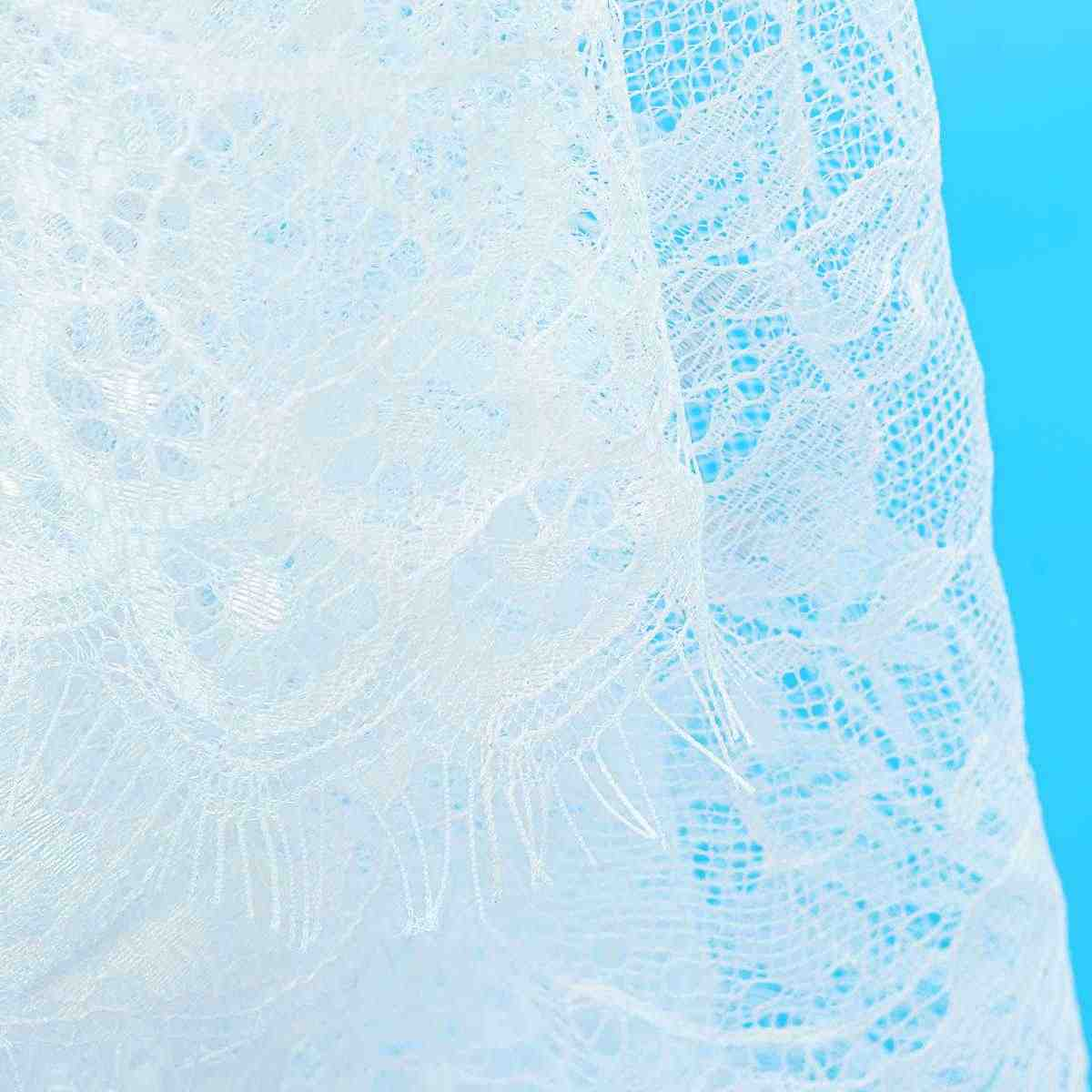 300X150 ซม.งานแต่งงาน Table Runner ลูกไม้สีขาวตาราง Runner ดอกไม้ตารางผ้า Bohos งานแต่งงานตารางตกแต่งสิ่งทอหน้าแรก