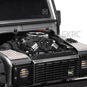 Image 5 - Rc Auto F82 V8 Simuleren Motor Motor Cooling Fans Radiator Voor 1/10 Rc Crawler Traxxas Trx4 Axiale Scx10 90046 Redcat gen8