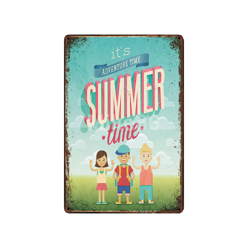 Mike86 Enjoy Summer ICE CREAM Tin Sign Vintage Pub Store Retro Iron Painting art Poster Art 20 30 CM LT 1774 in Plaques Signs from Home Garden