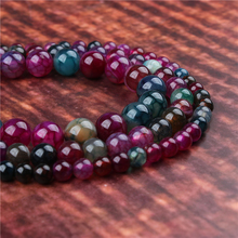 Fashion jewelry 4/6/8/10/12mm Tourmaline Agate, suitable for making jewelry DIY bracelet necklace