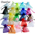 50 шт./лот, 24 цвета, сумки из органзы 7x9 9x12 10x15 13x18 см, сумки для упаковки ювелирных изделий, украшения для свадебвечерние, сумка для подарка