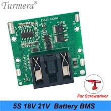 5s в 18в 21В БМС доска литиевая батарея 40А с баланса для 18В шуруповерта 21В Шурик и пылесос аккумулятор использовать Turmera