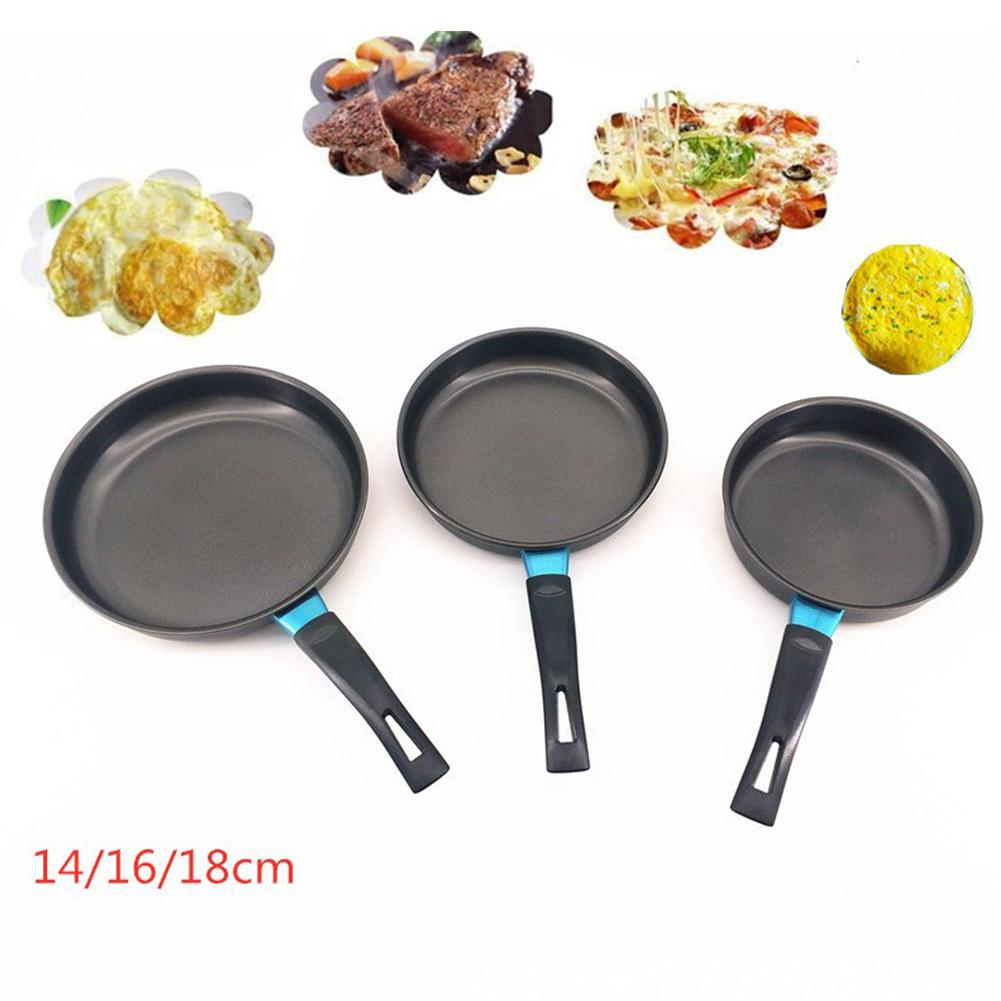 14/16/18cm Hot High Quality Mini Non-sticky Flat Base Frying Pan For Induction Cooker Kitchen Tools