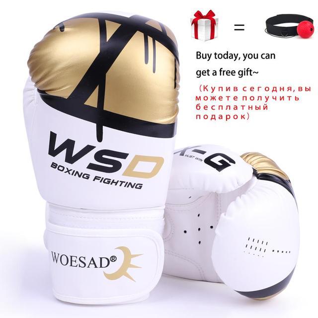REXCHI Kick Boxing Gloves for Men Women PU Karate Muay Thai Guantes De Boxeo Free Fight MMA Sanda Training Adults Kids Equipment 1