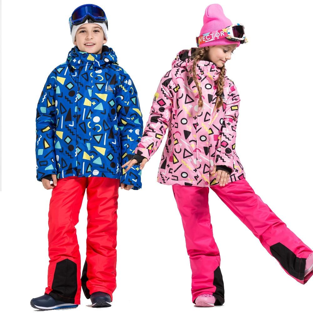 Kids Warm Snowboard Jacket Hoodie Skiing Snowboard Jacket Ski Suit Waterproof Skating Kayak Ceketler Snowboarding Supply BI50SJ