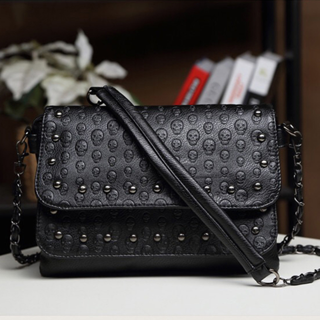 SKULL PATTERN CROSSBODY WOMEN BAGS