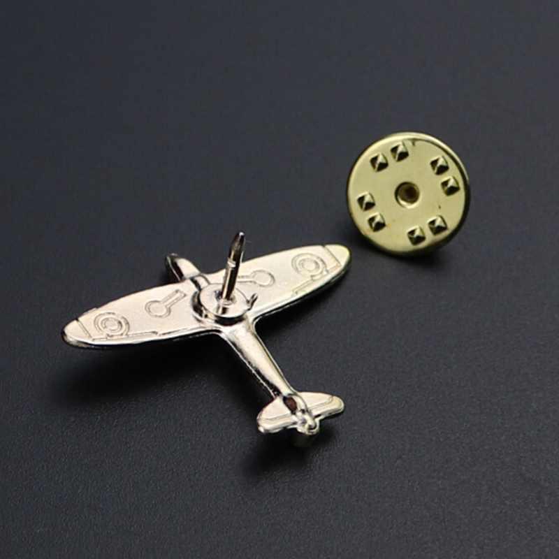 1 Pcs Pilot Bros Pesawat MINI PIN Di Ransel Pesawat Lencana Kartun Pin untuk Pakaian Dekorasi Lencana