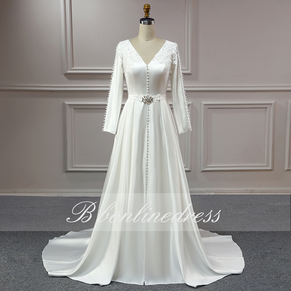 Moroccan Caftan Muslim Evening Dresses 2020 White Crystal Pearl Formal Gown Arabic Dubai Women Evening Dress robe de soiress 2
