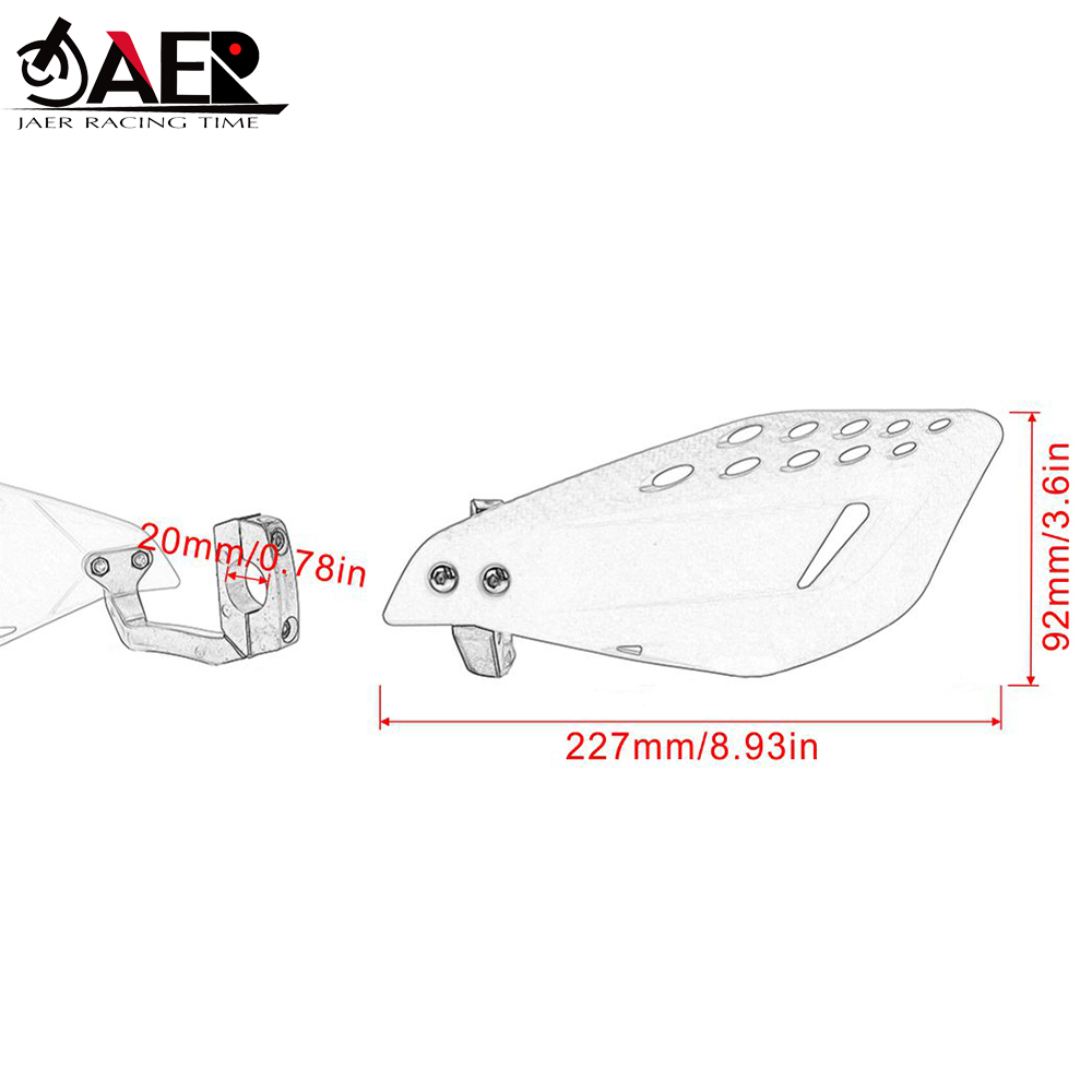 7//8 22mm Aluminum Insert Hand Guard for Suzuki DRZ400 RMZ250 RMZ450 RM250 RM125 RMX 7//8 22mm