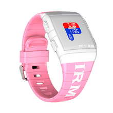Ladies Digital Watches Square Multi-time Zone Clock Creative Colorful Silicone Sports Waterproof Women Wrist reloj mujer