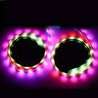 RGB Car Flexible LED Strip New Reomte control Decorative Atmosphere Lamp Car Side door atmosphere light Auto Neon Light Kit