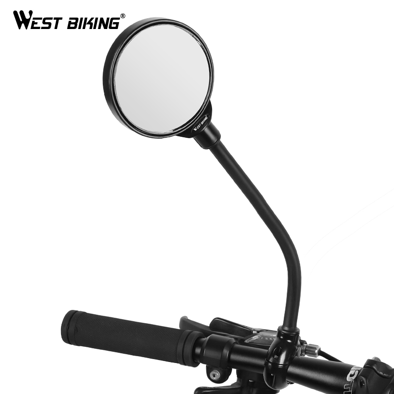 WEST BIKING Bike Rearview Mirror 360 Degree Rotate Cycling Rear View Mirrors MTB Road Bicycle Accessories Handlebar Mirror 1 Pcs
