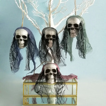 Halloween Scary Creepy Hanging Skull Skeleton Ghost for Bar Garden Yard Home Decor Haunted House Props Party Supplies June 25