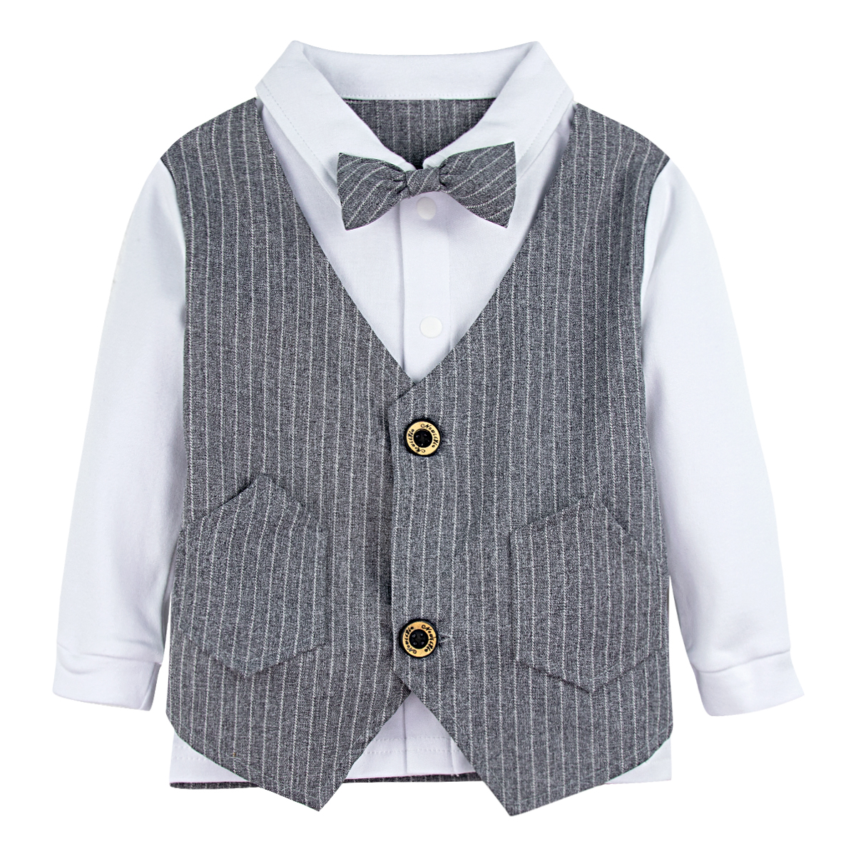 Baby Boy Dress Clothes Toddler Gentleman Outfits Tuxedo Formal Suits 3PCS Set