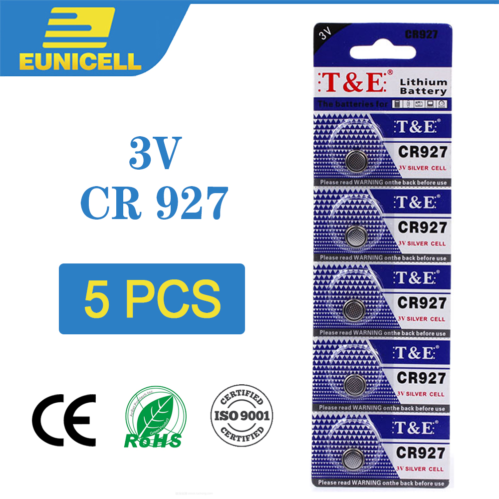 5pcs Lithium Cell Coin Battery 3V CR927 CR 927 Button Batteries ECR927 5011LC DL927 BR927 KCR927 LM927 For Watch Toy Remote
