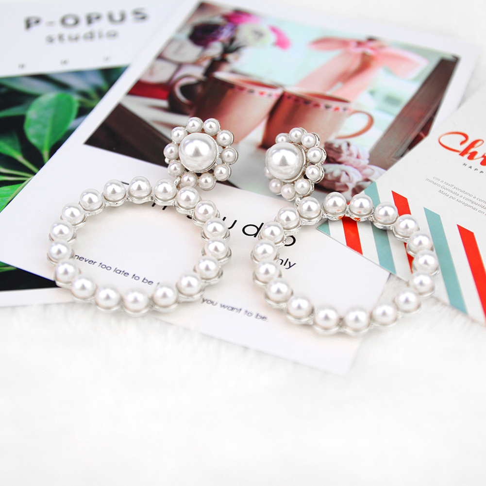 New Fashion Pearl Drop Earrings For Women Ladies Gold Vintage  Pendant Charm Wedding Jewelry Gift  Bridal Dangle Earring
