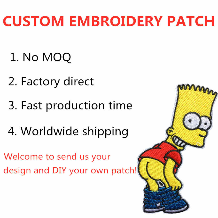 Embroidered Applique Coat Sew-on Patch for Jacket Iron-on Factory Custom Embroidered Patch