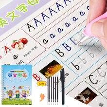 3d reutilizável escrita pasta escrita copybook para crianças palavra crianças livro inglês caligrafia letra prática montessori brinquedos